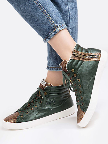 Женские кеды PEPE JEANS PLS30570_786_ green gold
