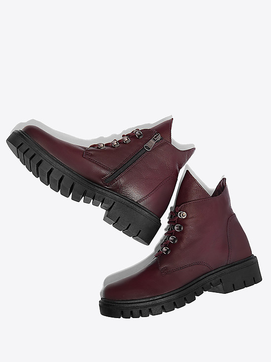 Ботинки Paula Urban R5-802 dark bordo