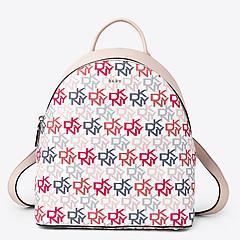 52e3c41187f8 ... Нежно-розовый кожаный рюкзак Brayant среднего размера с монограммой  бренда DKNY R74KJ010 light pink logo