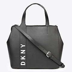 ... Черная кожаная сумка-тоут Bedford-Top среднего размера DKNY R84DH949  black 90d877e3ce8