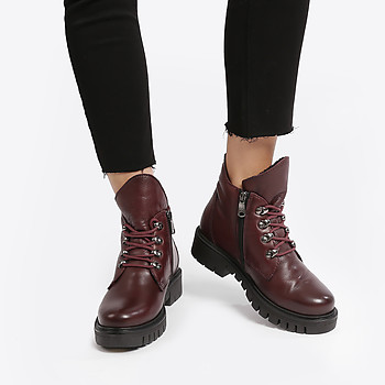Женские ботинки Paula Urban RM5-802 dark bordo winter
