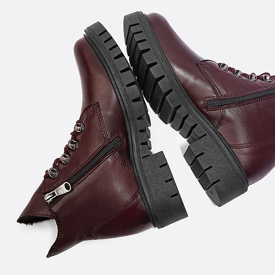 Ботинки Paula Urban RM5-802 dark bordo winter