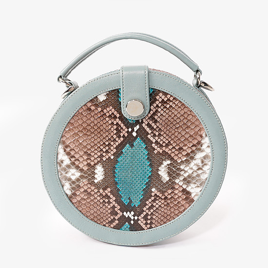 Geuco Round Box grey blue python