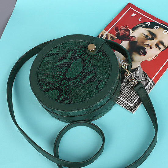Geuco Round Box magic green python