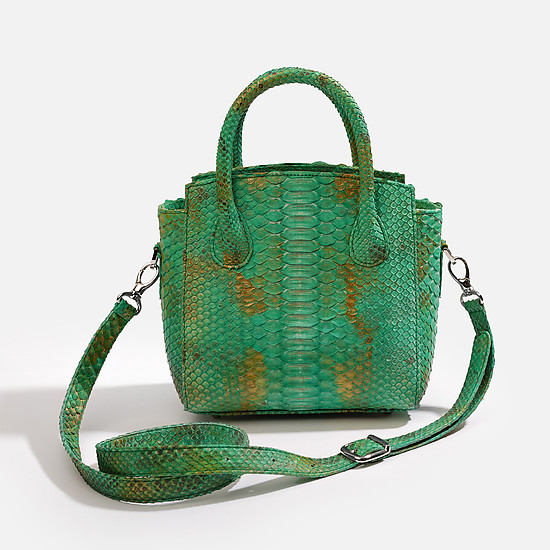 Geuco Sofi bag green gold python