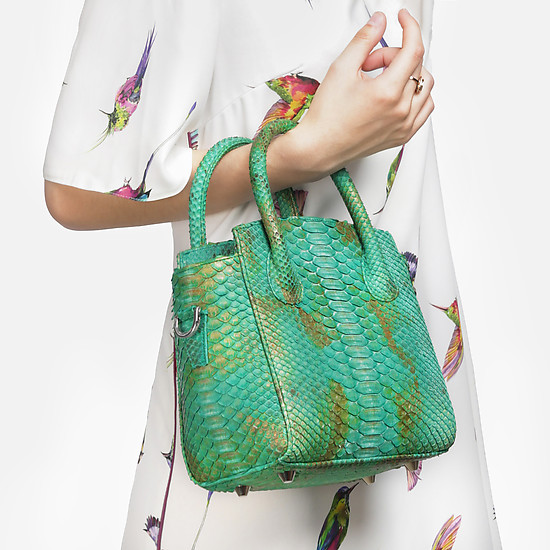 Сумки через плечо Geuco Sofi bag green gold python