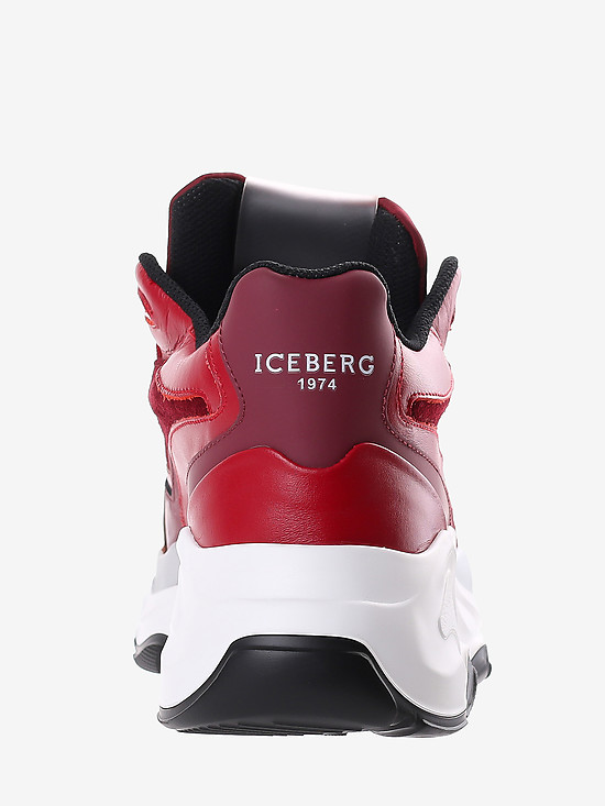 Кроссовки Iceberg V0804 red bordo