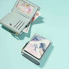 30659aec34ac ... Подарочный набор из кошелька и обложки для паспорта из кожи в бирюзовых  тонах Alessandro Beato kab251