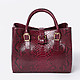 Geuco mini Love wine burgundy python