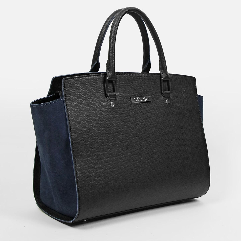 Классическая сумка Richet rt2284 black blue – Россия, черного цвета ... 9eecf09388d