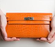 Оранжевые кошельки